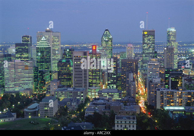 City skyline, Montreal, Quebec Province, Canada - Stock Image