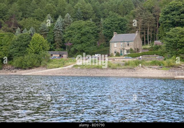 Ladybower fishery office, Bamford, Derbyshire, England. - Stock Image