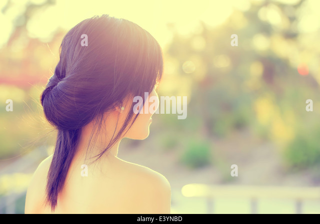 Asian Girl Portrait - Stock Image