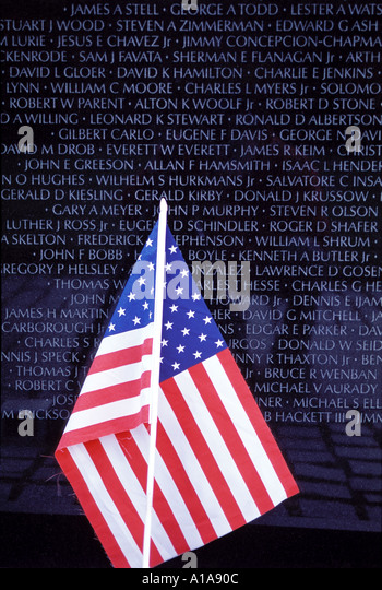 Vietnam Veterans Memorial Washington D.C. - Stock Image