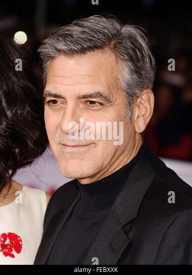 GEORGE CLOONEY US film actor in February 2016. Photo Jeffrey Mayer - Stock Image