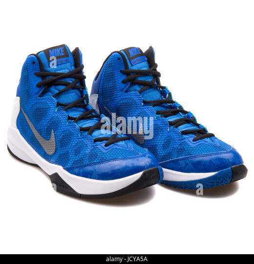 Nike Zoom Without A Doubt Royal Blue and White Men's Basketball Shoes - 749432-401 - Stock Image