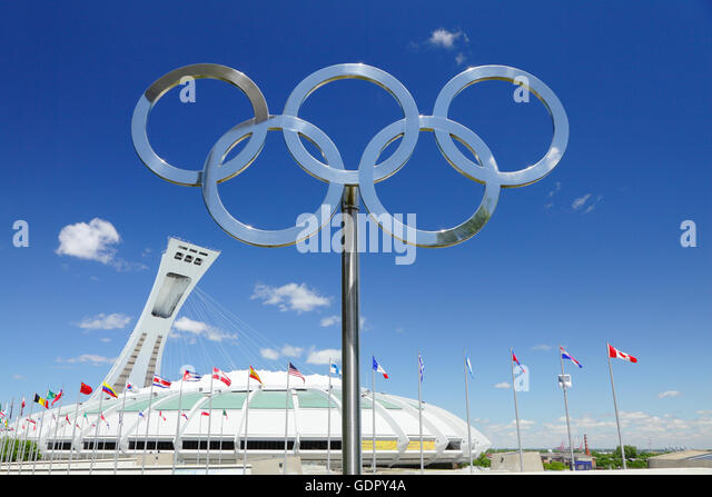 Le Stade Olympique, Olympic Stadium, Montreal, Quebec, Canada - Stock Image