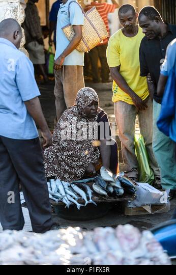 Darajani Market Stone Town Zanzibar - Stock-Bilder