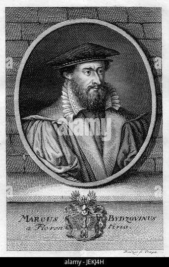 MAREK BYDZOVSKY (1540-1612) Czech scholar - Stock-Bilder