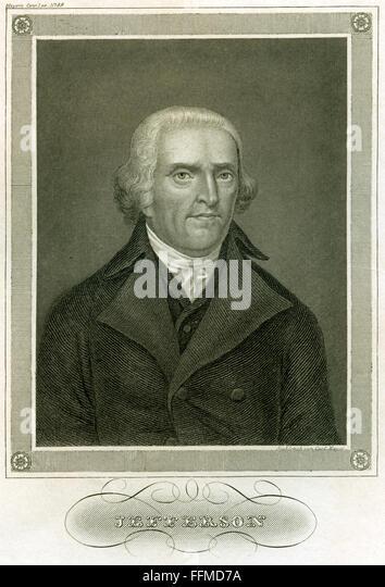 Thomas Jefferson, circa 1850 - Stock-Bilder