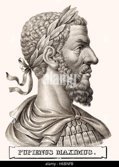 Pupienus Maximus, c., 165/170-238, Roman Emperor - Stock-Bilder