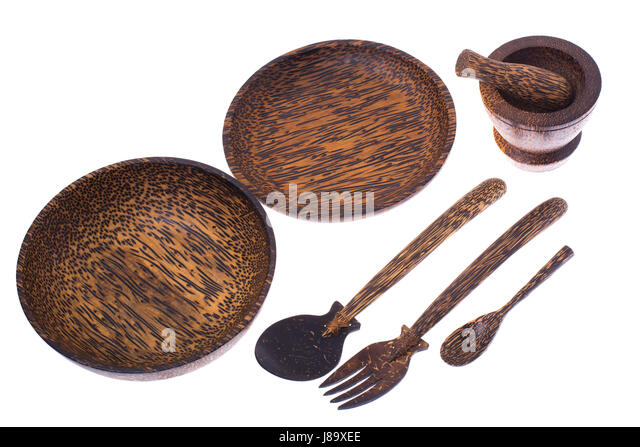 Coconut carving stock photos coconut carving stock for Dining room utensils
