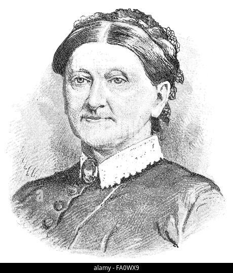 Franziska von Fritsch, 1828-1904, a German writer, - Stock-Bilder