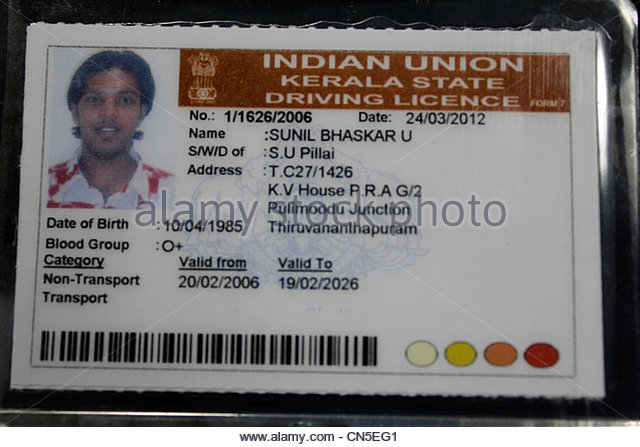 Indian driver's license - Stock Image