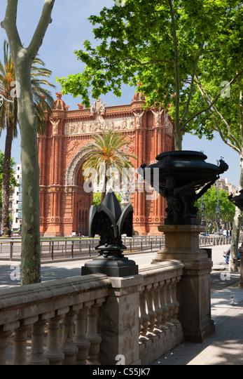 Spain, Catalonia, Barcelona, Arco del Triunfo, - Stock Image