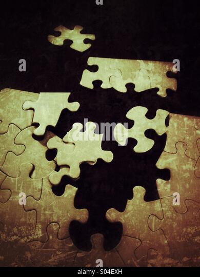 Unfinished puzzle - Stock-Bilder