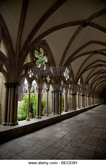 cloister in a catherdral - Stock Image