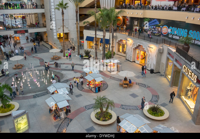 California CA LA Los Angeles Hollywood Boulevard movie industry Hollywood and Highland Center shopping mall entertainment - Stock Image