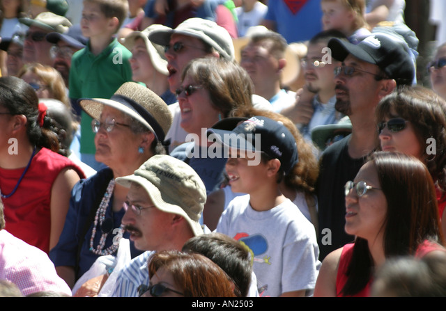 Albuquerque New Mexico State Fair audience - Stock Image