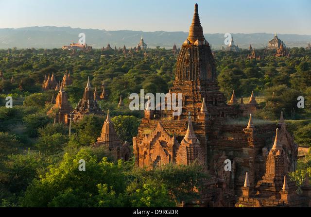 the Temples of Bagan, Myanmar (Burma) - Stock Image