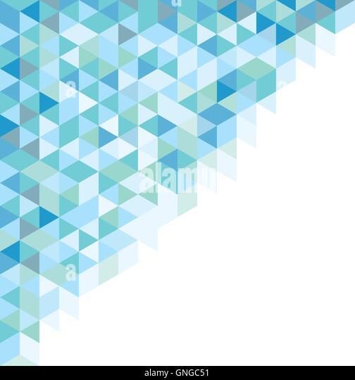 Abstraktes Symbol azul - Stock Image
