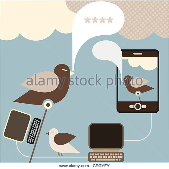 Social Network - vector concept for social media. - Stock Image