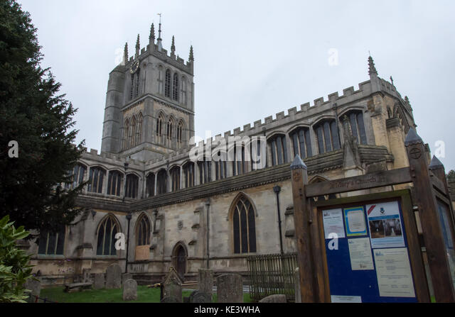 Melton Mowbray 18th October 2017: The clock is ticking time again inside the Grade 1 Listed building of St Mary's - Stock Image