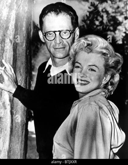 Arthur Miller, Marilyn Monroe at his estate, 1956 - Stock Image