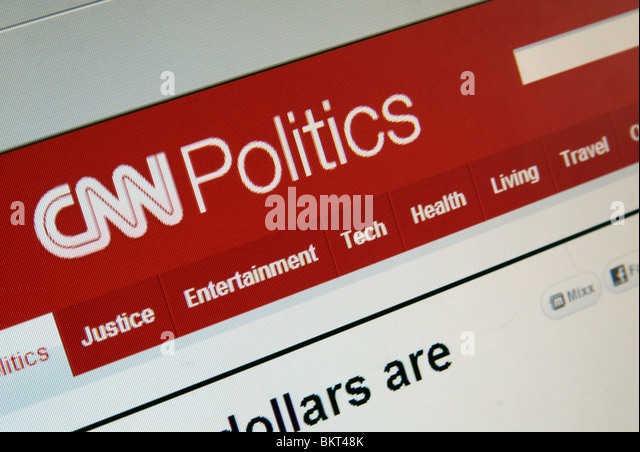 An angled close up screen shot of the Politics page of the CNN web site. April 2010 - Stock Image