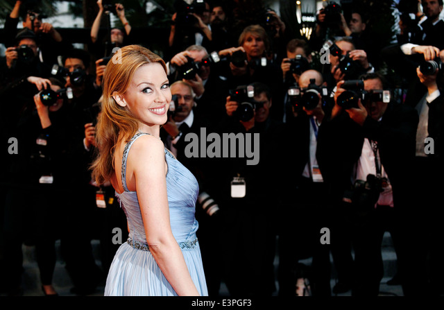 CANNES, FRANCE - MAY 27: Kylie Minogue attends the Closing Ceremony Premiere during the 65th Cannes Film Festival - Stock Image