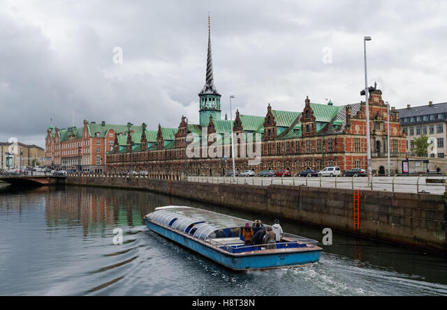 Frederiksholm Canal in Copenhagen, Denmark - Stock Image