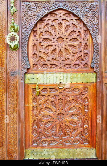 Ornamental door, Morocco, Africa - Stock Image