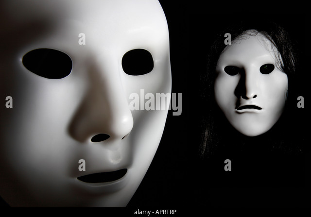Creepy face masks. - Stock Image