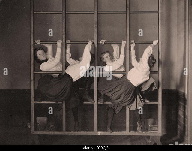 Girl high school gymnastics, 1893 - Stock Image