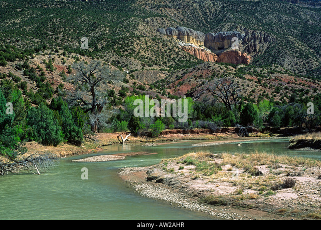 Bend in the Chama River - Stock Image