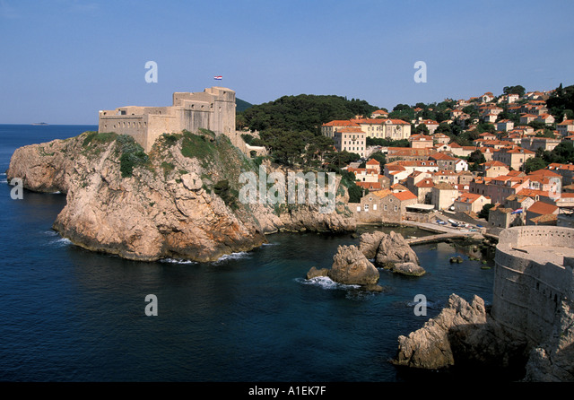 Dubrovnik Croatia Old Town Walled City - Stock Image