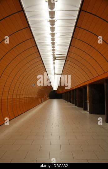 The Munich U Bahn Station - Stock-Bilder