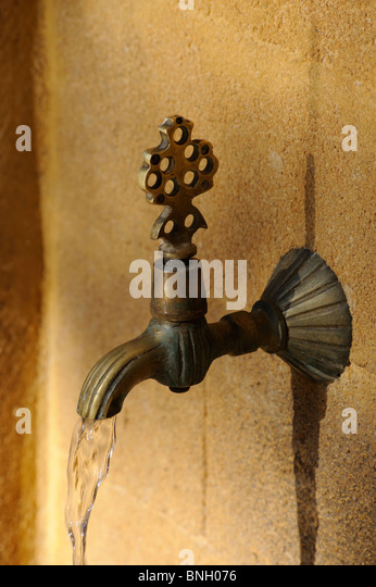 Tap running water Famagusta North Cyprus - Stock Image