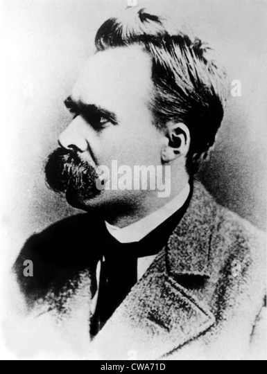 Friedrich Nietzsche, 19th century German philosopher, circa 1887. - Stock Image