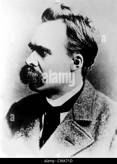 Friedrich Nietzsche, 19th century German philosopher, circa 1887. - Stock Image