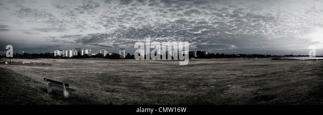 Mid distance view of high-rise buildings - Stock-Bilder