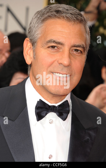 GEORGE CLOONEY  US film actor in January 2012. Photo Jeffrey Mayer - Stock Image