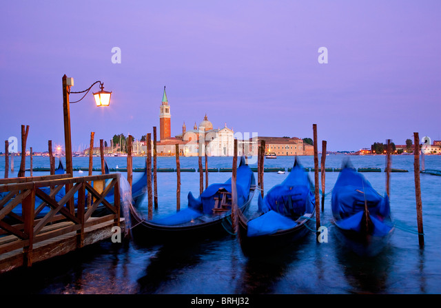 Europe, Italy, Venezia, Venice, Listed as World Heritage by UNESCO, View of San Giorgio Island from San Marco - Stock-Bilder