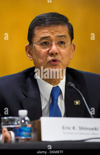 United States Secretary of Veterans Affairs (VA) Eric Shinseki.  - Stock Image