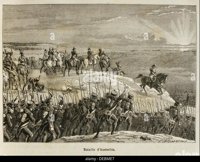 France, History, 19th Century. The Battle of Austerlitz, also known as the Battle of the Three Emperors, was Napoleon´s - Stock Image