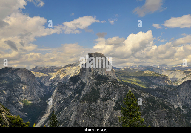 Yosemite National Park view of the valley from Glacier Point - Stock-Bilder