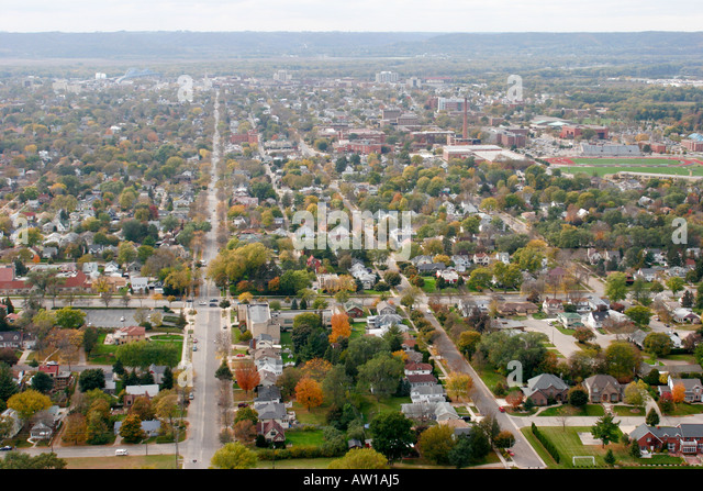 Wisconsin La Crosse Mississippi River Granddad Bluff Park view - Stock Image