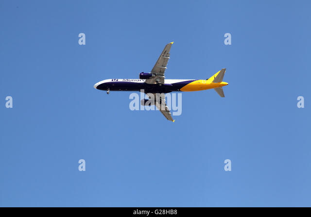 Aircraft with tourist heading to land - Stock Image