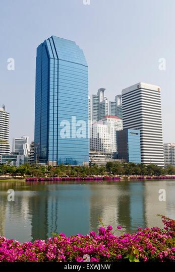 Highrises, Banjakitti Park, Bangkok, Thailand, Asia - Stock Image