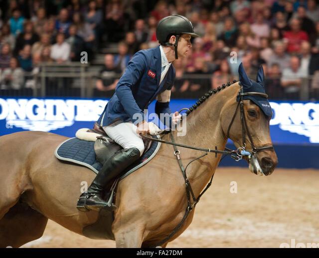 London UK. 20th December, 2015. The Longines FEI World Cup. Scott Brash (GBR) riding Hello M'Lady @Julie Priestley/AlamyLiveNews - Stock Image