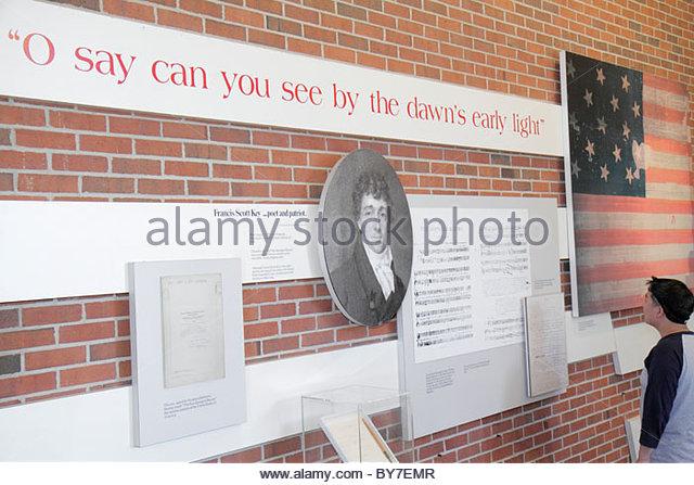 Maryland Baltimore Fort McHenry National Monument and Historic Shrine Star Spangled Banner Francis Scott Key national - Stock Image