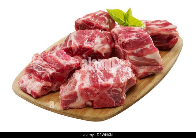 raw pork neck - Stock Image