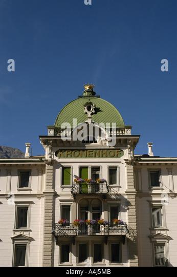 Switzerland St Moritz Badrutts Palace Hotel - Stock Image