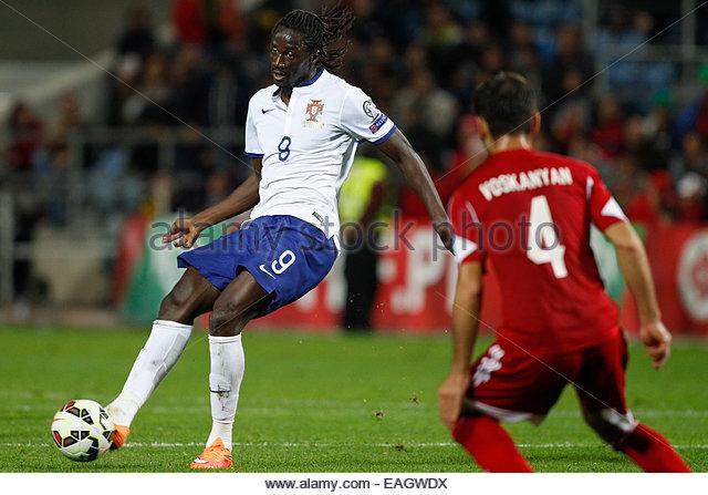 Algarve, Portugal. 14th November, 2014. PORTUGAL, Faro: Portugal's forward Éder in action during the UEFA - Stock Image